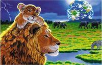 """Пазл """"Волшебный мир. Львенок и лев"""" (80 элементов)"""