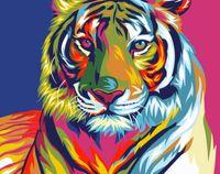 "Картина по номерам ""Радужный тигр"" (165х130 мм)"