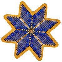 """Вышивка крестом """"Новогодняя игрушка. Утренняя звезда"""" (75х75 мм)"""
