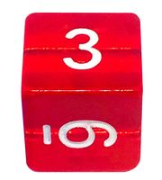 "Кубик D6 ""Цифры"" (16 мм; красный)"