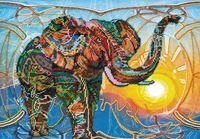"""Вышивка бисером """"Мозаичный слон"""""""