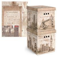 "Набор коробок складных ""England"" (2 шт.; 280х380х315 мм)"