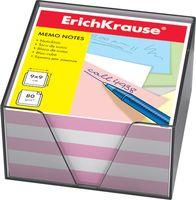 """Бумага для заметок """"Erich Krause"""" (90х90 мм; бело-розовая; арт. 2718)"""