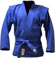 Куртка для самбо JS-302 (р. 3/160; синяя)