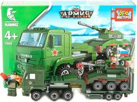 """Конструктор """"Армия. КамАЗ: перевозчик с танком"""" (185 деталей)"""