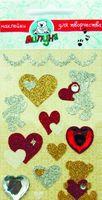 """Наклейки блестящие """"Мишки с сердцами"""""""