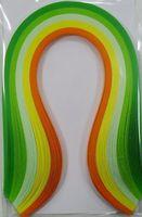 Бумага для квиллинга (300х5 мм; оттенки зеленого и желтого; 100 шт)