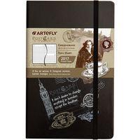 """Ежедневник датированный """"PostCard. London"""" 2017 (большой; твердая черная обложка)"""