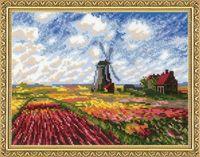 """Вышивка крестом """"Поле с тюльпанами"""" (330x250 мм)"""