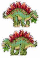 """Вышивка крестом """"Динозавры. Стегозавр"""" (90х130 мм)"""
