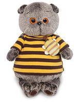 """Мягкая игрушка """"Басик в полосатой футболке с пчелой"""" (30 см)"""