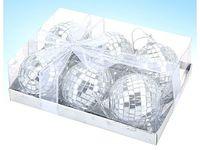 Набор шаров зеркальных декоративных (6 шт; 6 см; арт. CAA553770)