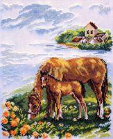 """Вышивка крестом """"Лошадки"""""""