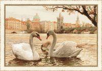 "Вышивка крестом ""Лебеди. Прага"" (арт. 1364)"