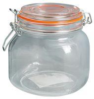 Банка для сыпучих продуктов стеклянная с клипсой (800 мл; арт. 50034-4)