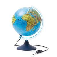 Глобус (физико-политический; рельефный; интерактивный; 250 мм)