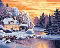 """Картина по номерам """"Зимний пейзаж"""" (400х500 мм)"""