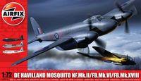 "Бомбардировщик ""De Havilland Mosquito MkII/VI/XVIII"" (масштаб: 1/72)"