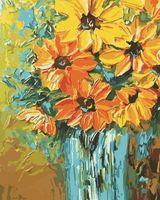 "Картина по номерам ""Оранжевый букет"" (400x500 мм; арт. MG349)"