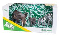 """Набор фигурок """"Animal Planet: Слон и зебра"""" (4 шт.)"""