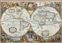 """Вышивка крестом """"Географическая карта мира"""""""