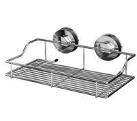 Полка для ванной металлическая на присосках (350х187х95 мм)