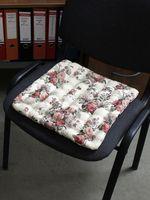 """Подушка на стул """"Concept Ecology. Розы и папоротник"""" (40х40 см)"""