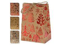 """Пакет бумажный подарочный """"Happy New Year"""" (в ассортименте; 11,5x6x16 см; арт. ABD002250)"""