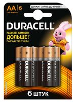 Батарейка DURACELL AA LR6 MN1500 Alkaline (6 шт)