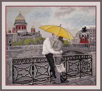 """Вышивка крестом """"Романтика Петербурга"""" (260x240 мм)"""