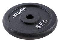 Диск чугунный BB-204 5 кг (чёрный)