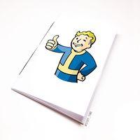 """Блокнот белый """"Fallout"""" А6 (109)"""
