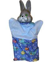 """Мягкая игрушка на руку """"Заяц"""" (25 см)"""
