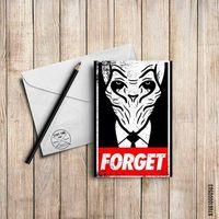 "Открытка ""Forget"" (арт. 503)"