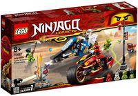 "LEGO Ninjago ""Мотоцикл-клинок Кая и снегоход Зейна"""