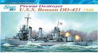 "Эскадренный миноносец ""U.S.S. Benson DD-421 1940"" (масштаб: 1/350)"