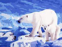 "Картина по номерам ""Белый медведь"" (400x500 мм; арт. MG178)"