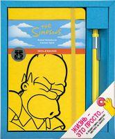"""Набор подарочный Молескин """"The Simpsons"""" (большой; твердая желтая обложка)"""