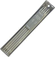 Спицы для вязания чулочные (алюминий; 6 мм; 5 шт)