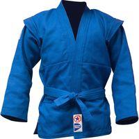 Куртка для самбо JS-303 (р. 3/160; синяя)