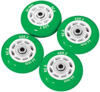Набор светящихся колес для роликов (4 шт.; ABEC-5; зелёный)