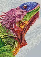 """Алмазная вышивка-мозаика """"Игуана"""" (270х380 мм)"""