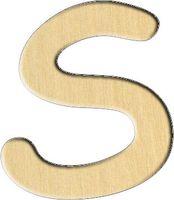 """Заготовка деревянная """"Английский алфавит. Буква S"""" (61х70 мм)"""
