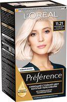 """Краска для волос """"Preference"""" (тон: 11.21, ультраблонд холодный перламутровый)"""