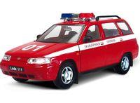 "Модель машины ""Lada-111. Пожарная охрана"" (масштаб: 1/36)"