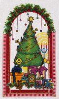 """Вышивка крестом """"Новогоднее счастье"""" (140х220 мм)"""