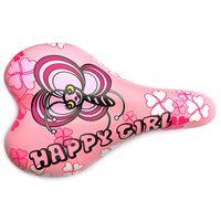 """Седло для велосипеда """"1217A. Happy Girl"""" (розовое)"""