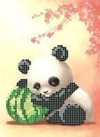 """Вышивка бисером """"Панда и арбуз"""""""