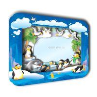 """3D аппликация """"Рамка. Пингвины"""""""