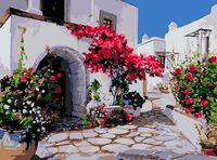 """Картина по номерам """"Улицы Греции"""" (300х400 мм)"""